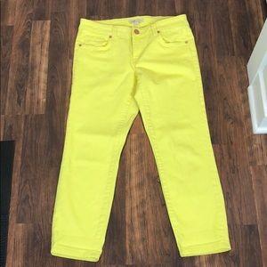 0046 CAbi Yellow Jeans sz 4